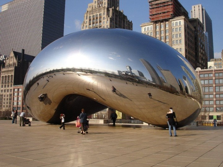 Cloud Gate Skulptur in Chicago