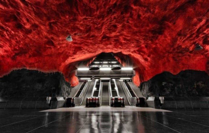 Der U-Bahnhof in Stockholm