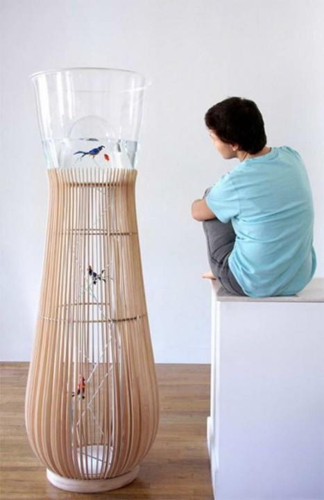 Duplex-Aquarium-Käfig