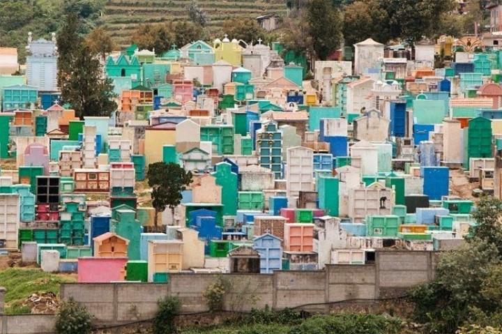 Farbiger schöne Friedhöfe in Guatemala 1