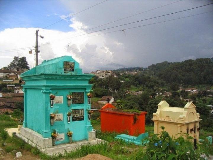 Farbiger schöne Friedhöfe in Guatemala 3