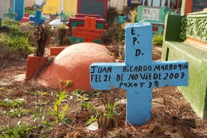 Farbiger schöne Friedhöfe in Guatemala 4