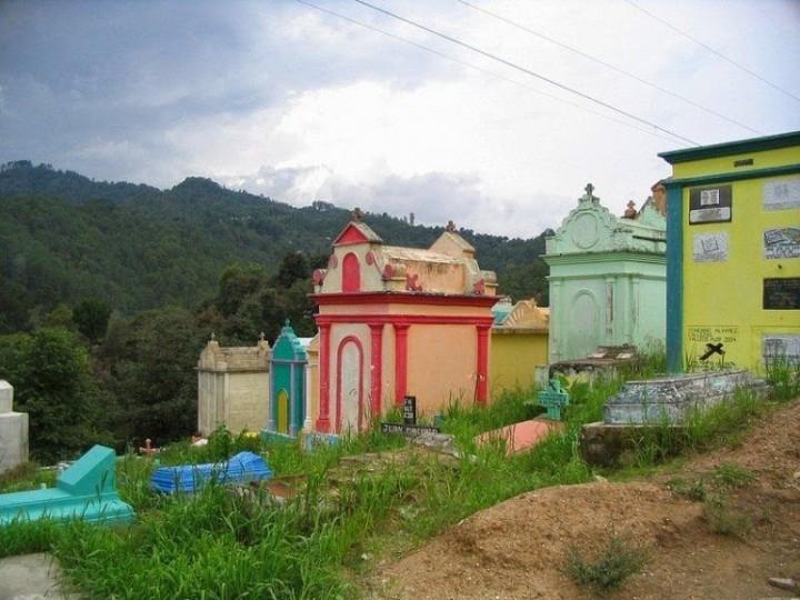 Farbiger schöne Friedhöfe in Guatemala 5