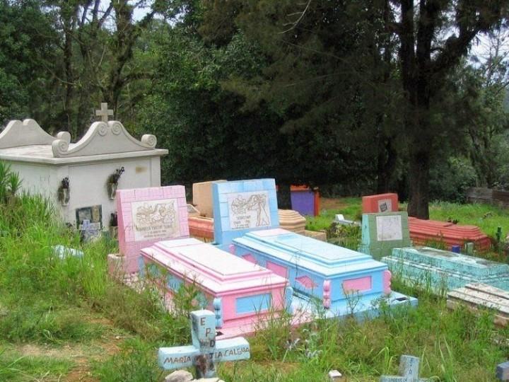 Farbiger schöne Friedhöfe in Guatemala 6