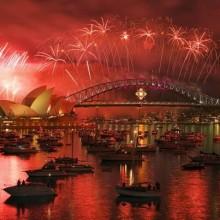 Feierlichkeiten in Sydney Harbour