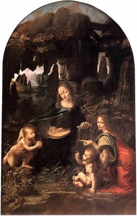 Madonna in der Felsengrotte Louvre
