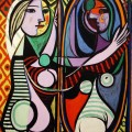 Mädchen Vor Einem Spiegel Von Pablo Picasso