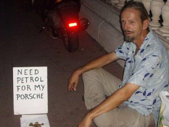Obdachlos Porshe