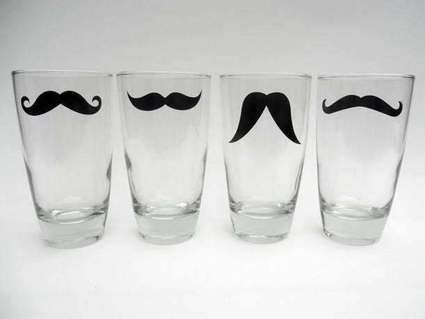 Schnurrbart-Glas