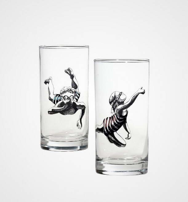 Schwimmer Gläser