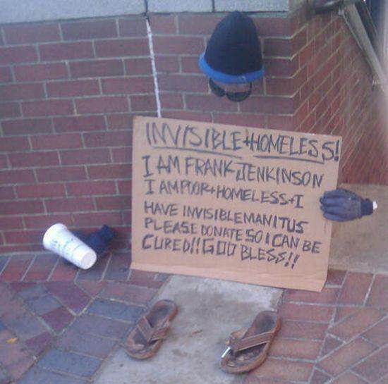 Unsichtbare Obdachlose