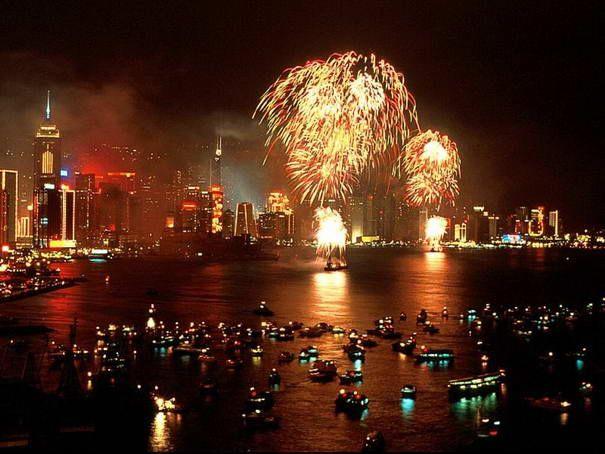chinesischen Neuen Jahr in Hong Kong