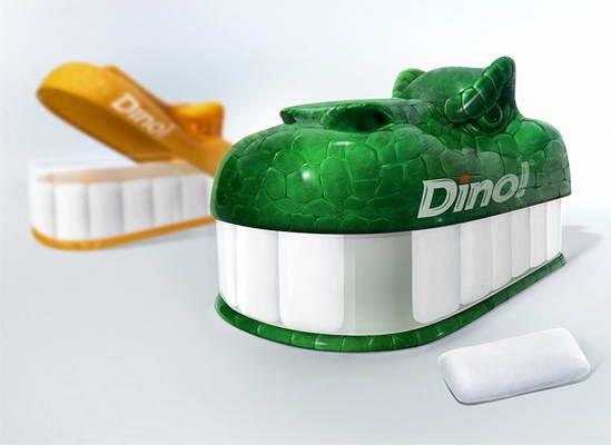 dem Dino-Zähne Kaugummi