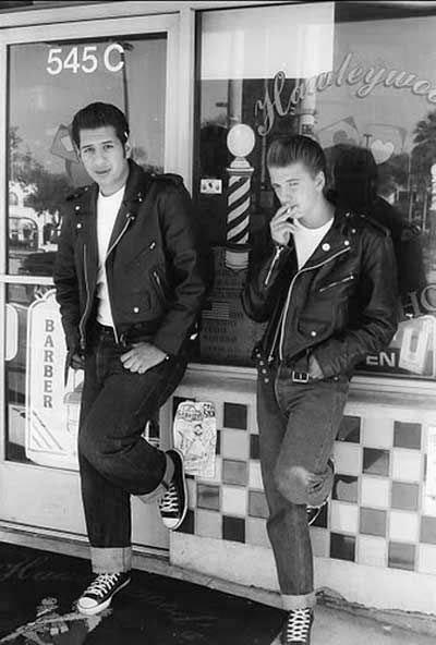 50er Jahre Greaser Herren Haarschnitte Kunstop De