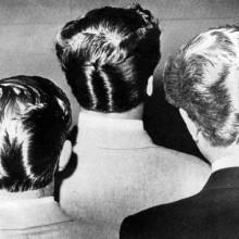 50s männliche duck tail hair style bei Männern