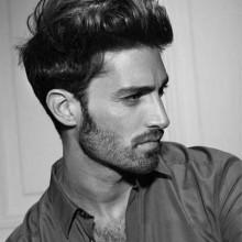 Frisuren für Herren-medium lange gerade Haare
