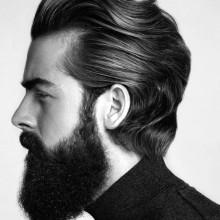 Haarschnitt mit BART