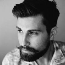 Herren-Haarschnitte, die gehen mit Bärten
