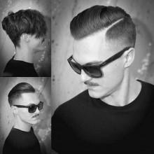 Herren Haarschnitte verblasst verjüngt Seitenteil