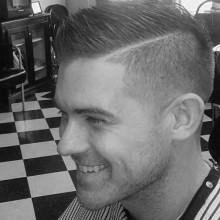 Herren Seite Teil Haarschnitt Stile