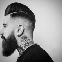 Herren hautenge fade Haarschnitt