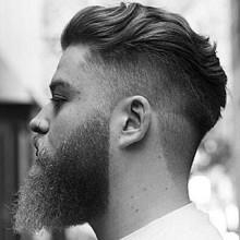 Herren undercut kurze wellige Frisur