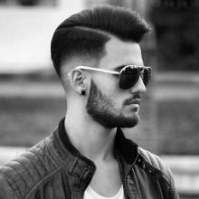 Kamm über Herren Frisuren für mittlere Haar