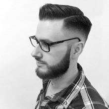 Kamm über die Haut fade Frisur für Männer