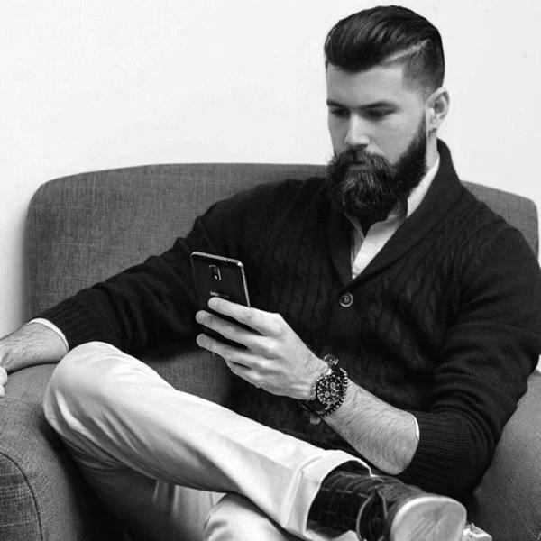 Haare Zurück Gekämmt Für Männer