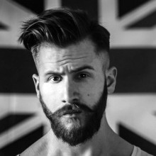 Männer Seite Haarschnitt