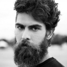 Männer langen lockigen Haar -
