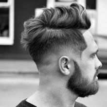 Männer mit mittlerer Länge Haar verblasst Seiten
