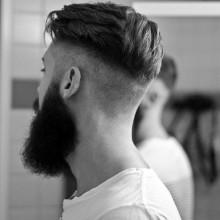 Männer undercut-Haarschnitt
