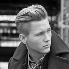 Männer welliges Haar