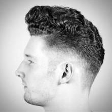 Männlich Herren curly-Haar-fade-Haarschnitt-Stil