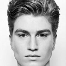 Mann mit mittlerer Länge, tolle Haarschnitt