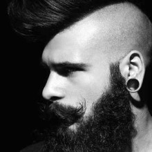 Rasiert Frisuren für Männer mohawk