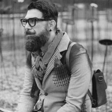 Seite Teil der dapper-hipster-Frisuren für Männer