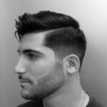 Seite gescheitelt Frisuren