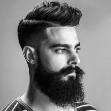 Seitenteil mittlere Haar Länge Stile für Männer