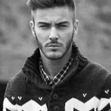 beliebten Herren-quiff Haarschnitt