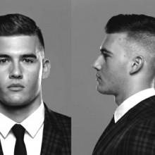 business-Mann mit der coolen Haarschnitt style