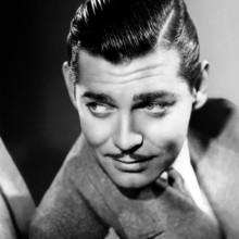 clark gable gekämmt Kamm über der 1930er Jahre Herren Haarschnitt