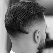 classy slicked zurück undercut Frisuren für Herren