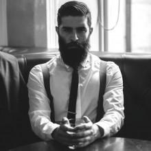 cool bärtigen Herren stilvolle Frisuren