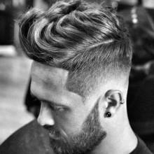cool mens low fade wellig Haarschnitte