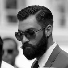 dapper Herren harte Teil der traditionellen Frisur