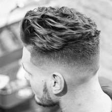dapper Herren kurze wellige Haare