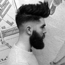 dapper mens medium Frisuren für dickes Haar und Runde Gesichter