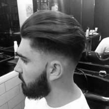 dick Mittel lang Herren-high-fade-Haarschnitte